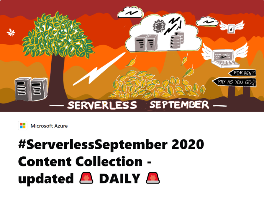 Serverless September Overview MSFT (Text Image)
